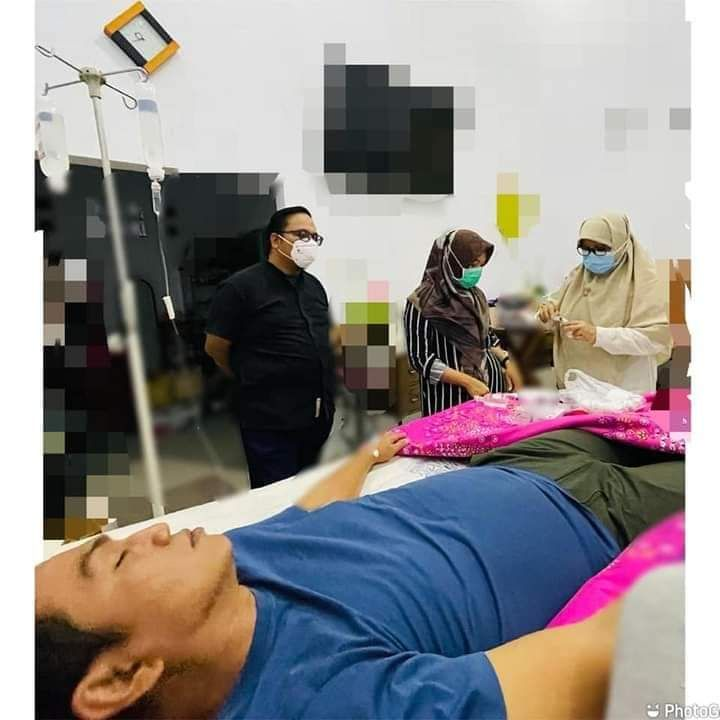 Bupati Batanghri Muhammad Fadhil Arief ketika menjalani perawatan di kediaman pribadi