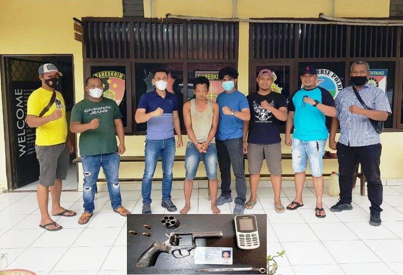 Unit Reskrim Polsek Singkut dan Tim Opsnal Sat Reskrim Polres Sarolangun