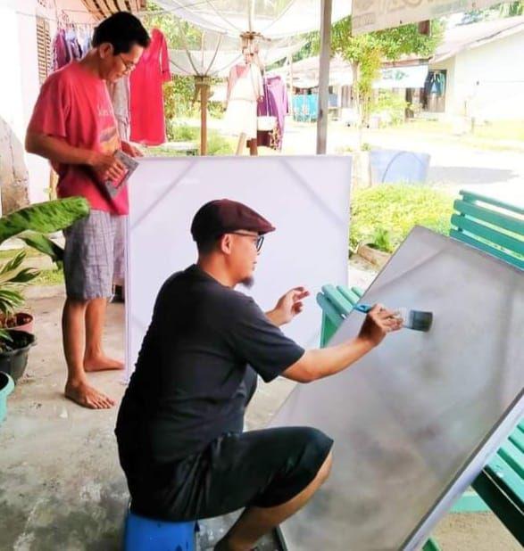 Rukam persiapan Pameran Lukisan tahun 2021 di Taman Budaya Jambi