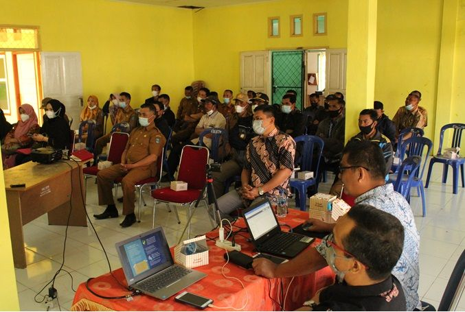 Berlangsungnya kegiatan PkM di Kecamatan Gunung Tujuh Kabupaten Kerinci, Senin 21 Juni 2021